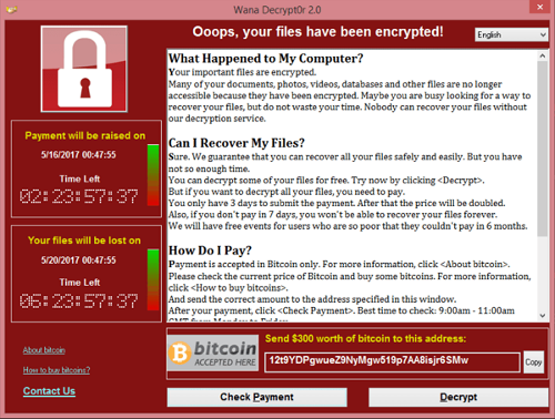 WannaCrypt screenshot